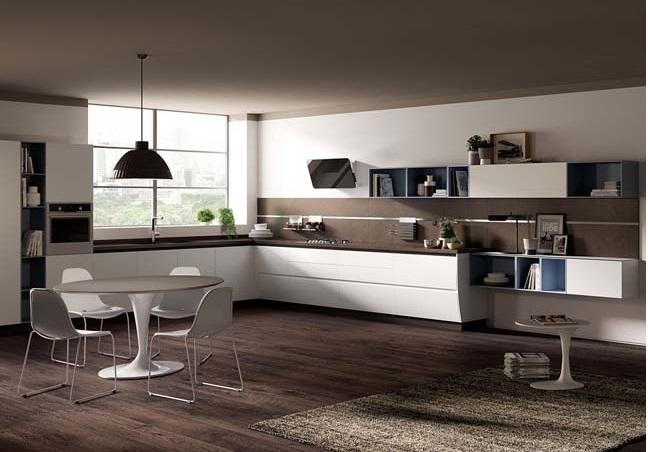 Tủ bếp hiện đại với sắc trắng tinh tế và vô cùng bắt mắt
