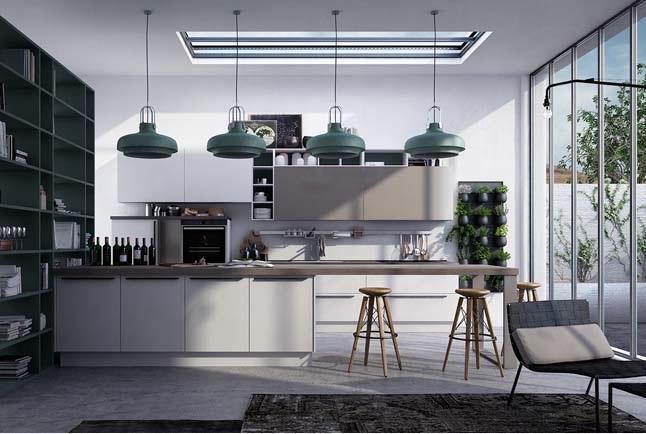 Nhà bếp được thiết kế theo kiểu châu âu