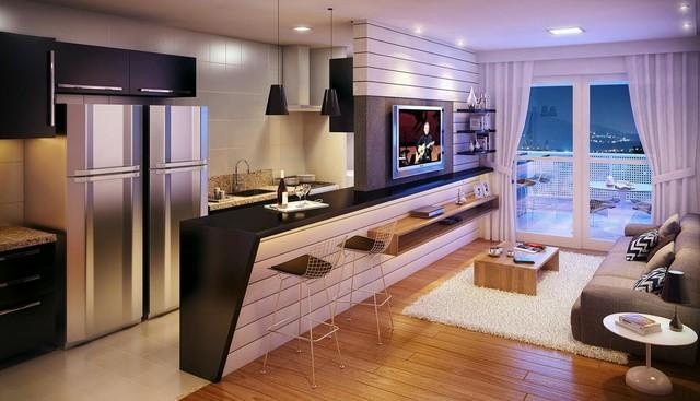 Thiết kế nhà bếp đẹp cho các căn hộ trung cư