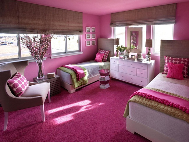 Thiết kế một tông màu chung cho cả phòng ngủ của bạn