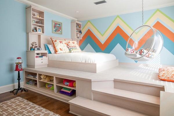 phòng ngủ bé được thiết kế cùng các họ tiết sinh động
