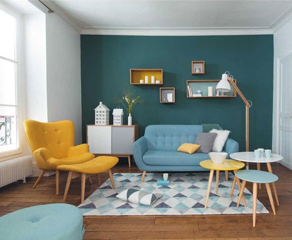 Màu xanh luôn được khách hàng lựa chọn trong thiết kế nội thất đặc biệt là những chiếc ghế sofa màu xanh xịh sắn