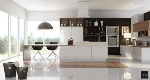 Tủ bếp đẹp với tông màu trắng