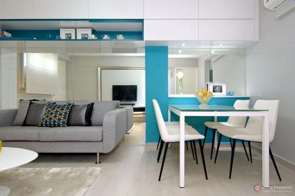 Khoảng cách giữa 2 không gian phòng khách và bếp là một vấn đề không hề đơn giản