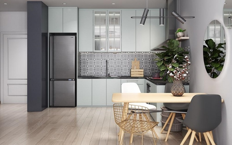 thi công tủ bếp chung cư có diện tích lớn nhỏ tại Tp.HCM