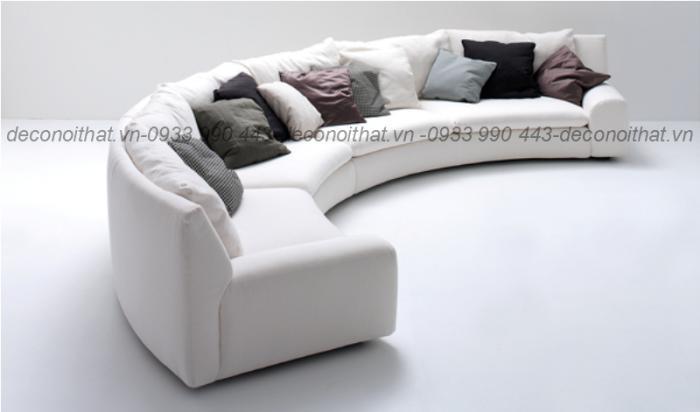 Ghế sofa 166 được thiết kế theo vòng cung vừa mới lạ và sang trọng