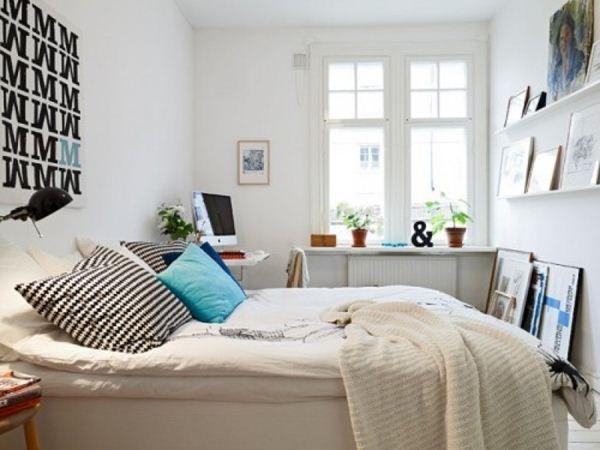 phòng ngủ mang đậm chất trắng thanh tao và sang trọng