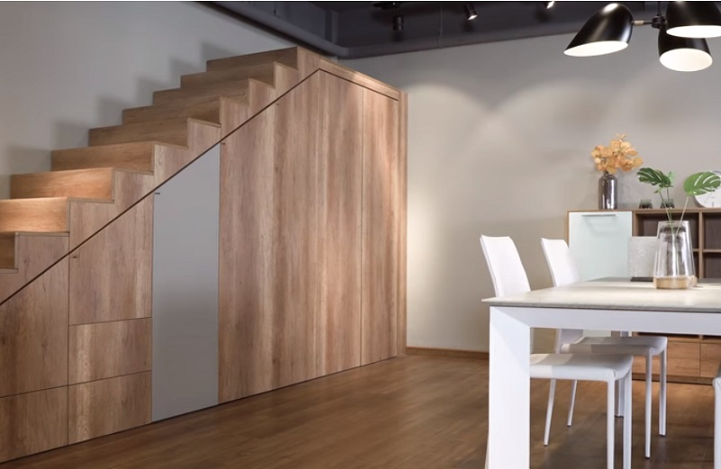 Demo trong ứng dụng thiết kế dưới gầm tủ cầu thang