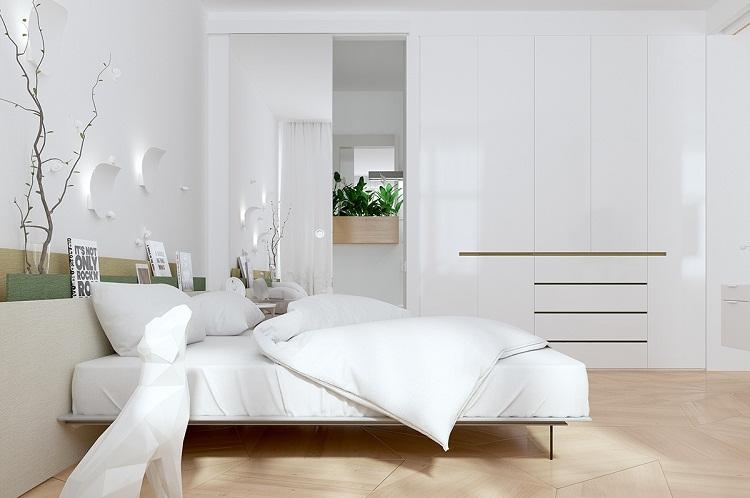 Phòng ngủ sang trọng nhờ kết hợp những mẫu tủ quần áo lớn sang trọng