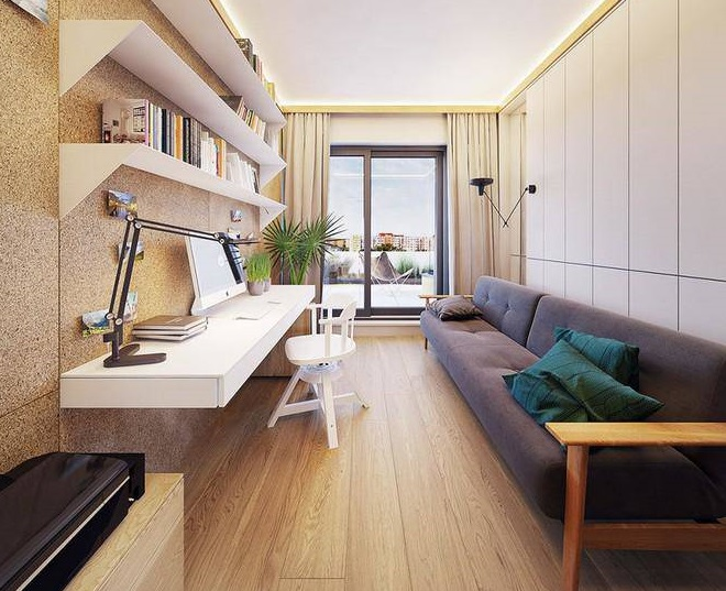 Thiết kế nội thất căn hộ đẹp một cách ngẫu hứng và cuốn hút