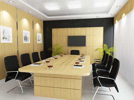 bàn họp văn phòng màu sắc trang nhã, mộc mạc mang đến sự trẻ trung, năng động