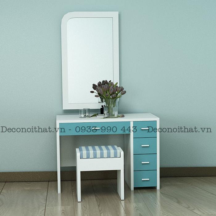 bàn trang điểm với thiết kế đơn giản giúp phù hợp với mọi không gian phòng ngủ