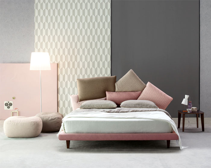 Không có màu xanh dương, nhưng những hồng thạch anh kết hợp với ghi xám và nâu cũng rất tuyệt vời cho một phòng ngủ.