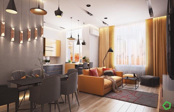 Một phòng khách đẹp tạo sắc thái êm dịu, thư giãn.