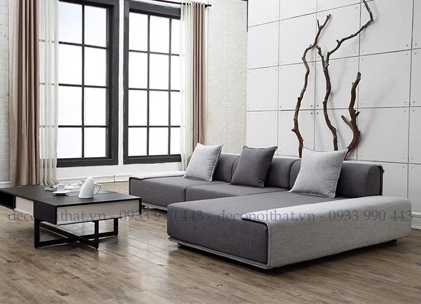 ghế sofa góc 170TP với kiểu dáng nhẹ nhàng, đơn giản nhưng lại vô cùng sang trọng hiện đại sẽ là tâm điểm nổi bật cho không gian phòng khách của gia đình bạn