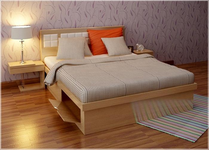 giường ngủ gỗ 117 mang phong cách hiện đại mang đến cho bạn một cảm giác mới lạ phá cách với thiết kế chân giường là 2 hộc tủ