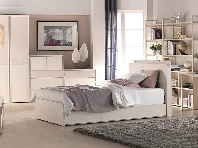 Giường ngủ bé 015 được làm từ gỗ MDF chống ẩm
