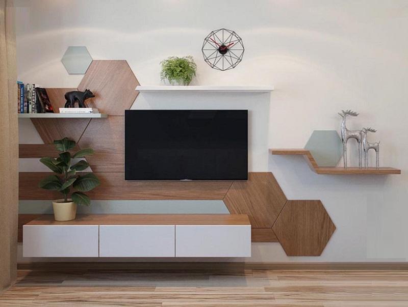 Kệ tivi treo tường là một trong những giải pháp cho mọi không gian phòng khách