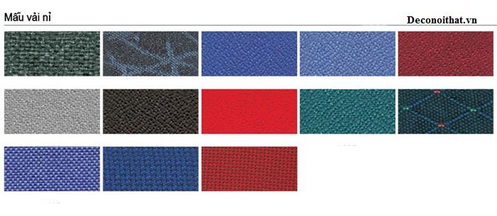 Một số màu vải nỉ bọc ghế sofa