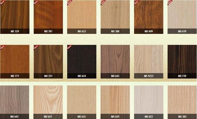 Một số màu vân gỗ Melamine trong thiết kế kệ tivi