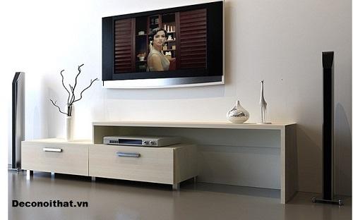 Kệ tivi giúp lưu trữ đồ đạc một cách gọn gàng