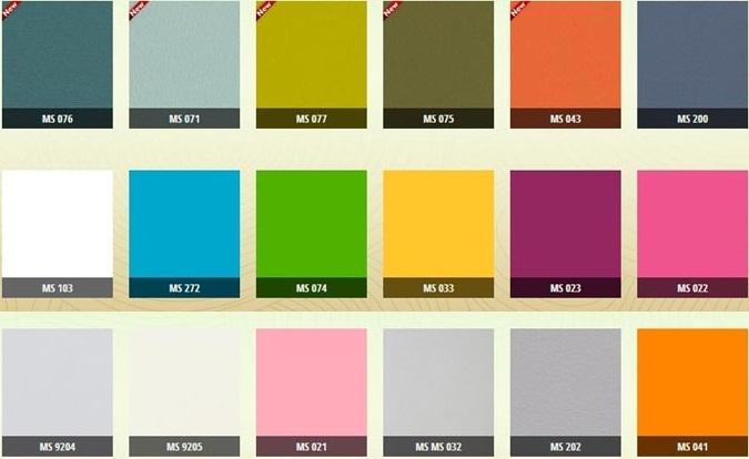Một số màu melamine trơn rất thích hợp khi phối màu