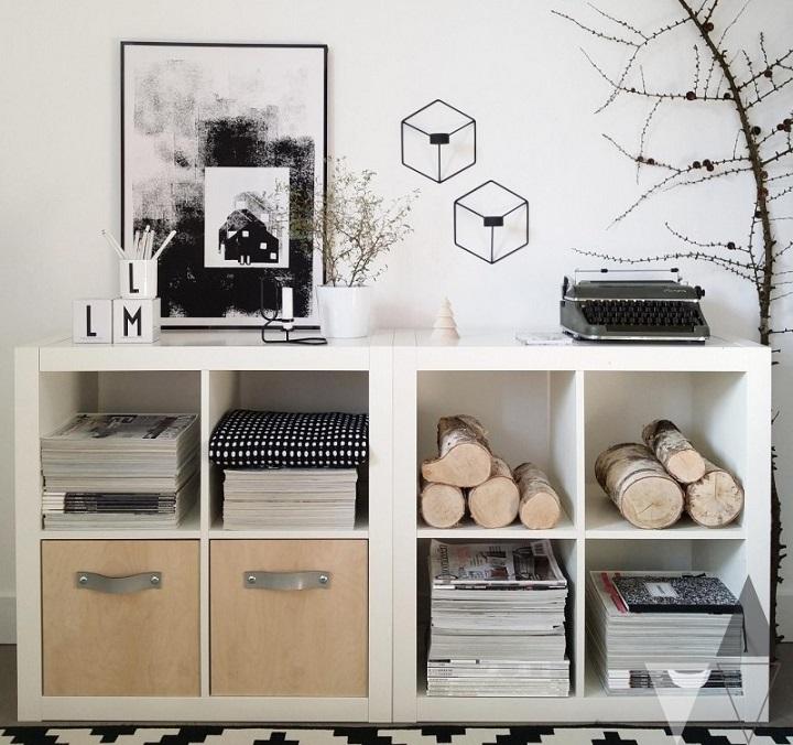 Kệ mở là sự lựa chọn khéo léo và tinh tế trong thiết kế phòng làm việc hoặ phòng khách
