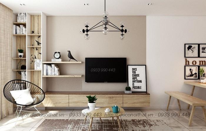Kệ tivi đẹp với kiểu dáng bắt mắt sang trọng cho nội thất phòng khách thêm xinh