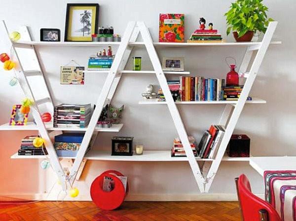 Kệ sách hình thang thông minh đầy tính sáng tạo trong trang trí ngôi nhà của bạn