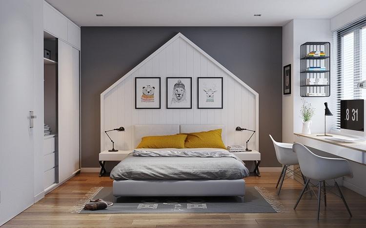 phòng ngủ đầy tính sáng tạo