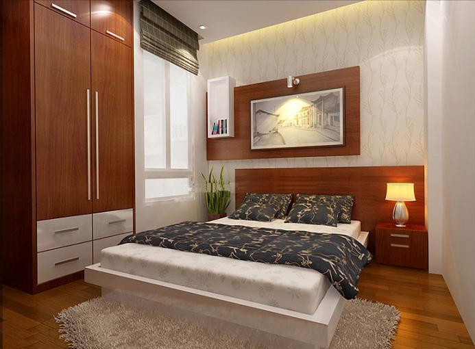 Thiết kế tủ quần áo âm tường 1 cao đụng trần