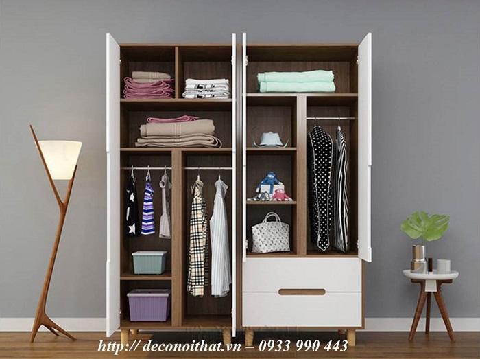 Tủ áo 2 cánh mở hiện đại,tiện dụng là sự lựa chọn phù hợp cho không gian diện tích nhỏ