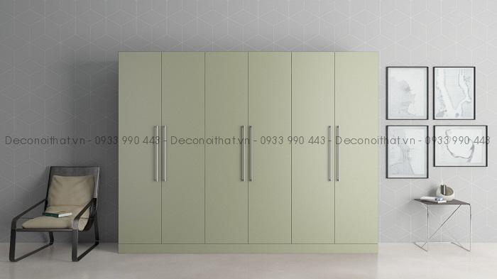 tủ quần áo với thiết kế thông minh và màu sắc trang nhã cùng chất liệu gỗ công nghiệp bền đẹp sẽ mang lại vẻ đẹp mới cho căn phòng