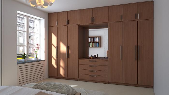 Tủ áo hiện đại cho phòng ngủ rộng