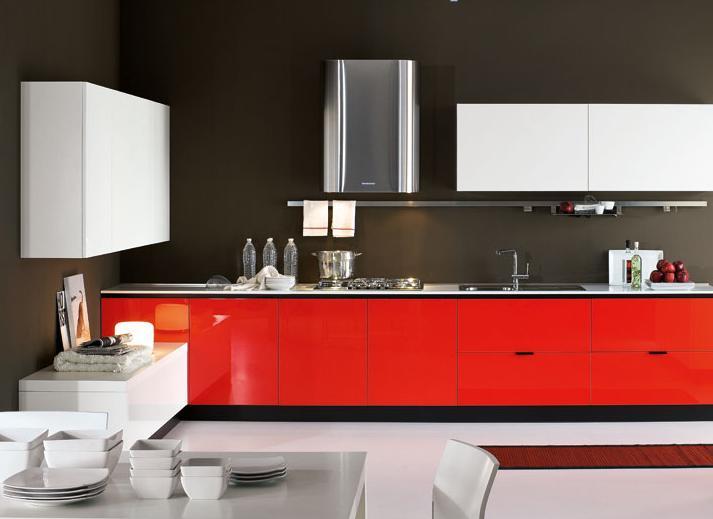 Mẫu tủ bếp phù Acrylic