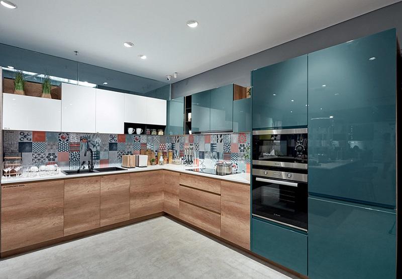 Mẫu tủ bếp Crylic đẹp 2020
