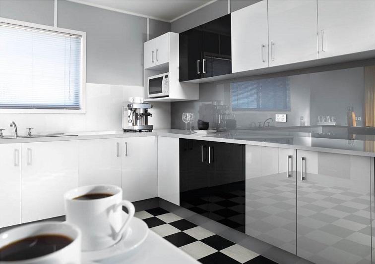 tủ kệ bếp gọn gàng giúp không gian bếp thêm phần mở rộng