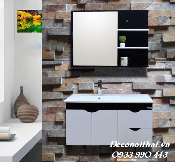Tủ lavabo đẹp với thiết kế treo tường có kiểu dáng nhỏ gọn phù hợp với mọi không gian phòng tắm