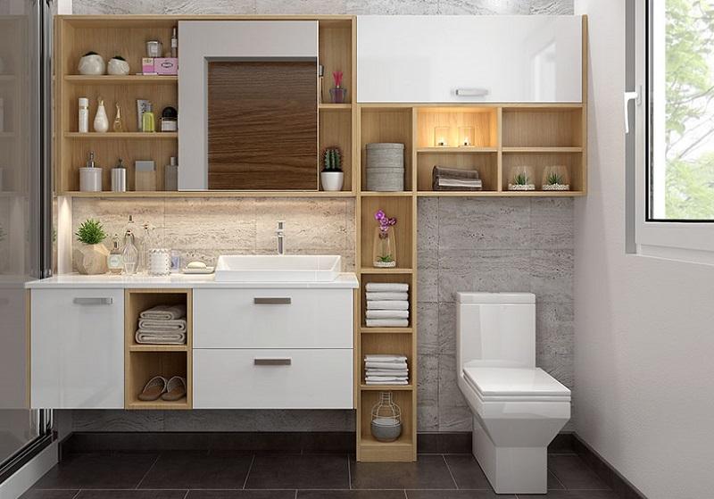 Tủ lavabo đẹp cho phòng tắm vừa - lớn