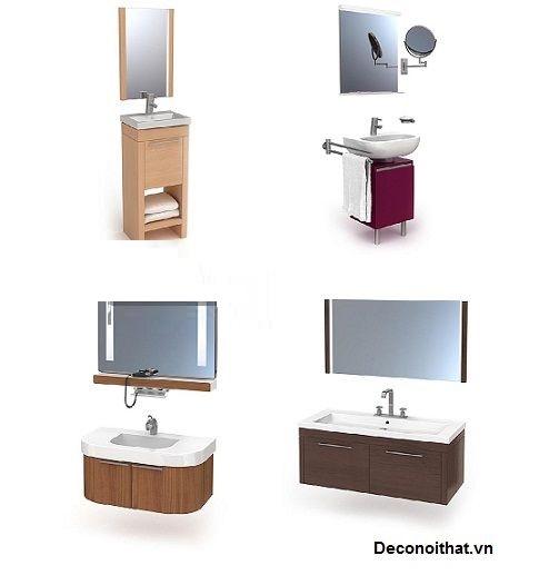 Tủ lavabo đẹp cho phòng tắm nhỏ