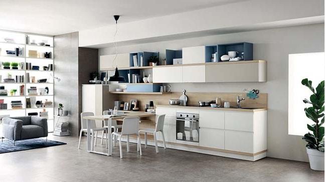 Thiết kế nhà bếp liền kề với không gian phòng khách