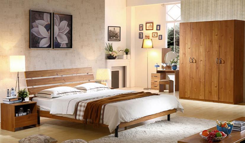 Com bo nội thất phòng ngủ mang phong cách tối giản