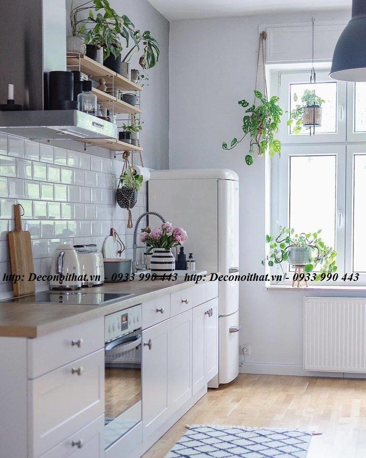 thiết kế nhà bếp đẹp mang phong cách tối giản
