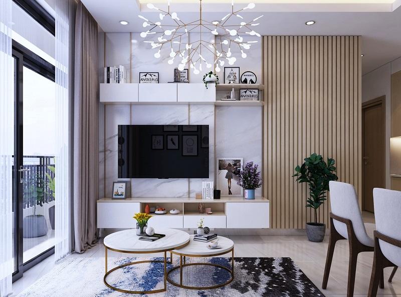 Lựa chọn kệ trang trí đẹp cho phòng khách hiện đại