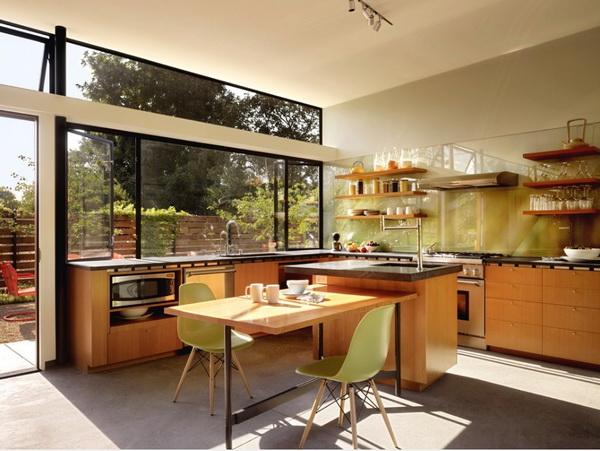 Tông màu gỗ chủ đạo tạo nên ấn tượng cho chủ nhà