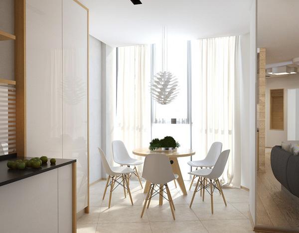Thay đổi phong cách thiết kế bàn ăn hình vuông ,hình chữ nhật thay bằng 1 chiếc bàn tròn đầy tinh tế
