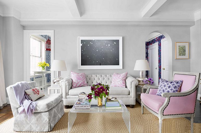 Màu hồng ghi trong thiết kế nội thất mới lạ và sang trọng