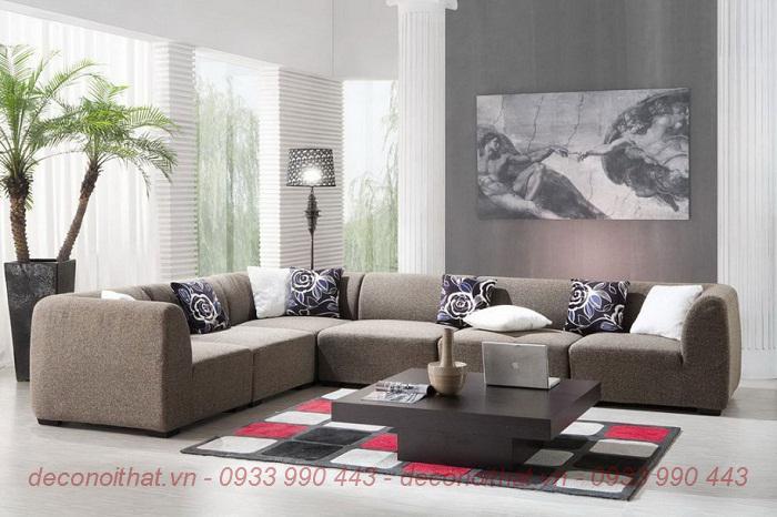 ghế sofa 154 bọc vải nỉ thoáng, nệm mút D40