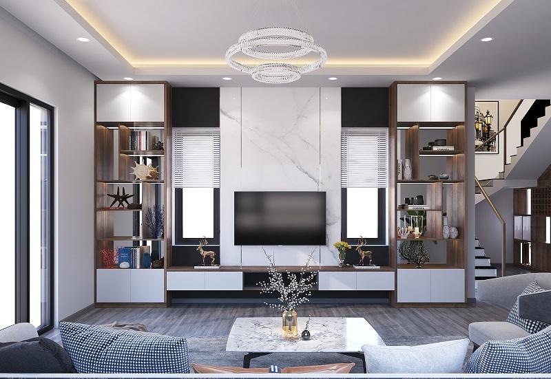 Bộ sưu tập 100 mẫu kệ trang trí phòng khách đẹp
