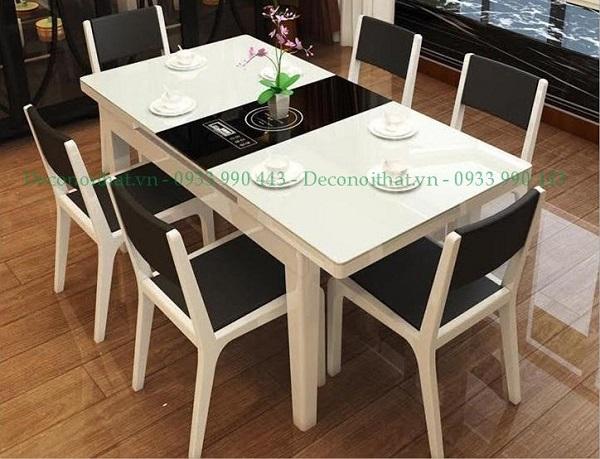 ban ghe an gia re-bàn ghế ăn hiện đại với 2 màu đen trắng nổi bật sẽ mang lại không gian tiện nghi cho căn bếp của bạn
